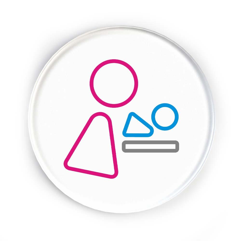 Disc Door Sign Icon - Baby Change