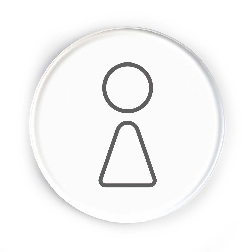 Disc Door Sign Icon - Female