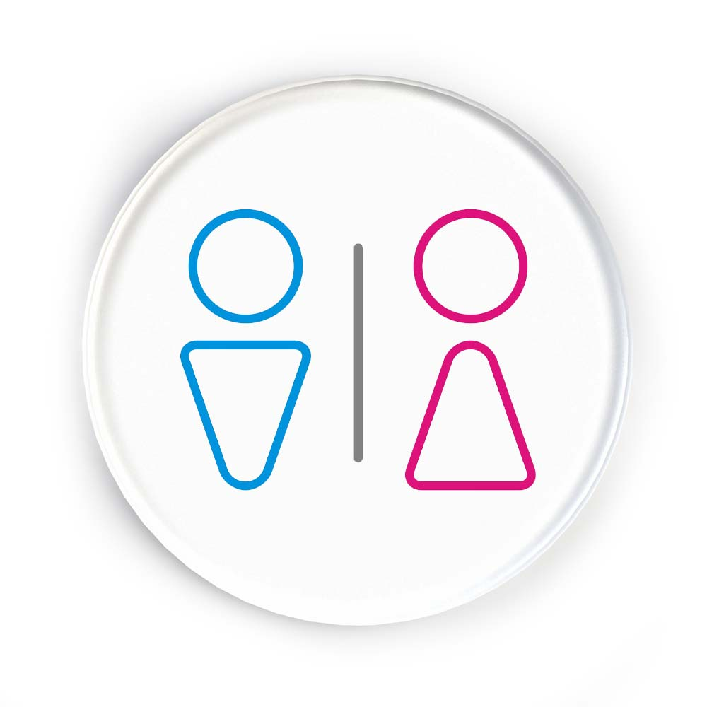 Disc Door Sign Icon - Male and Female