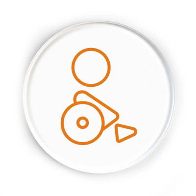 Disc Door Sign Icon - Accessible