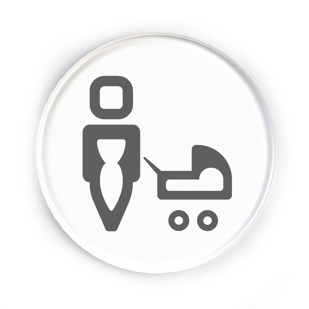 Icon Disc Door Signs - Baby Change