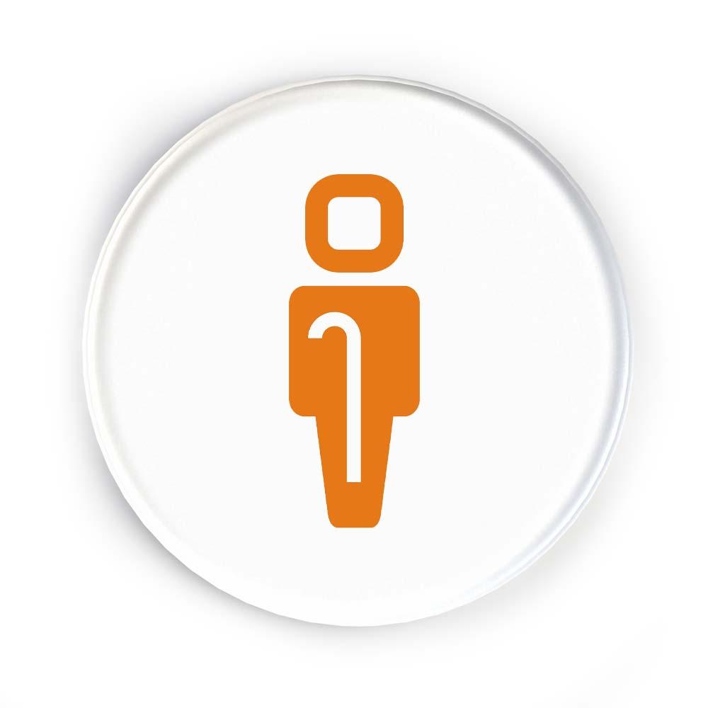 Icon Disc Door Signs - Accessible