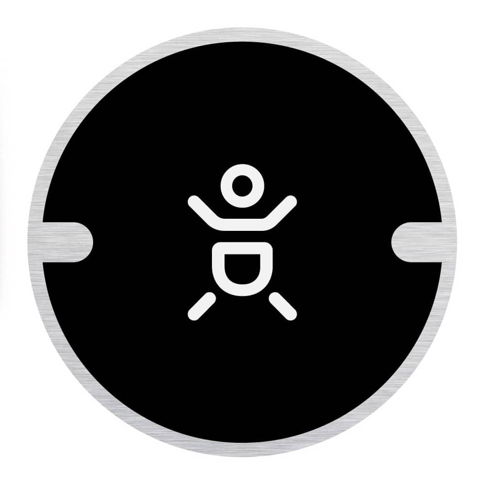 Ironmongery Disc Door Signs - Baby Change