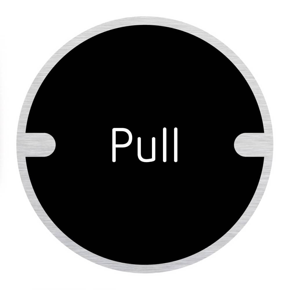 Ironmongery Disc Door Signs - Pull