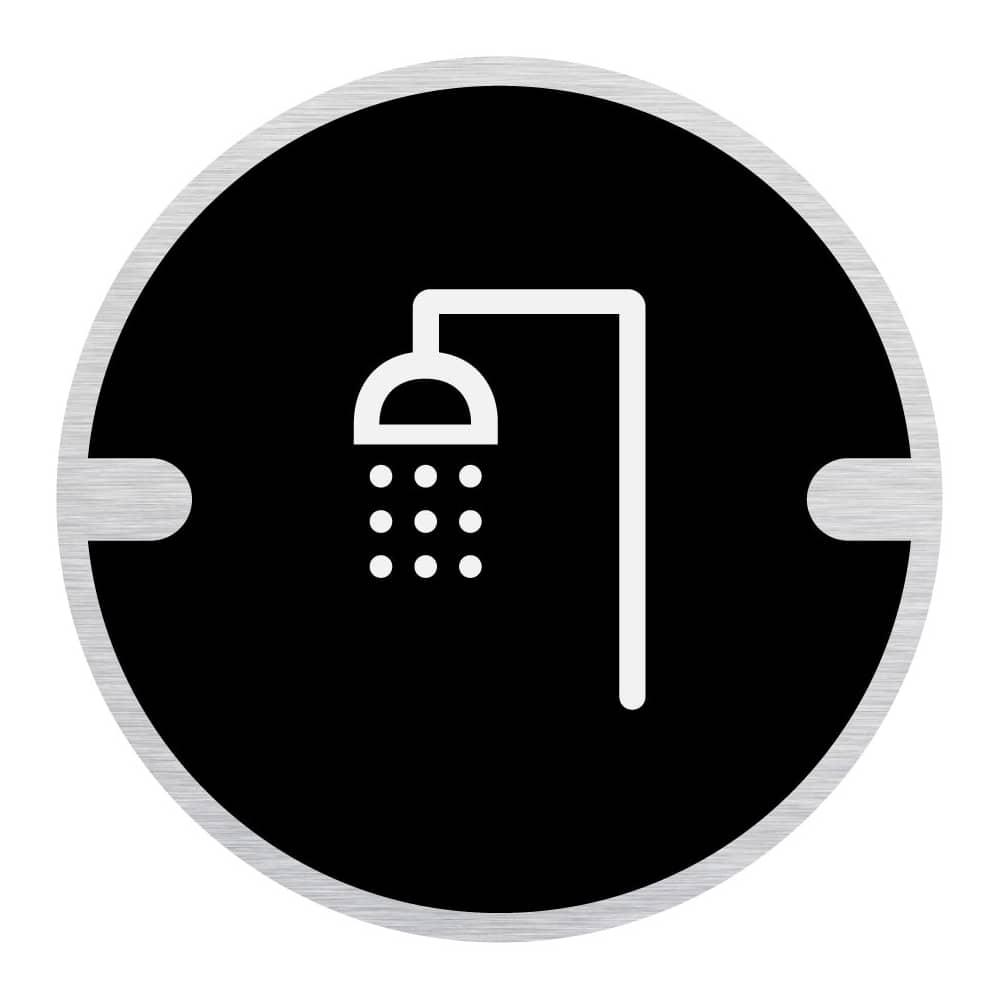 Ironmongery Disc Door Signs - Shower