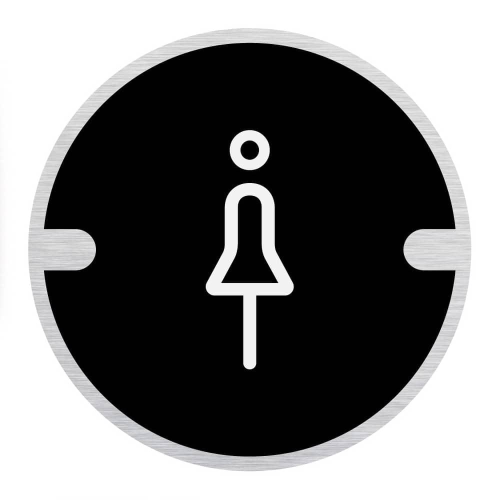 Ironmongery Disc Door Signs - Female