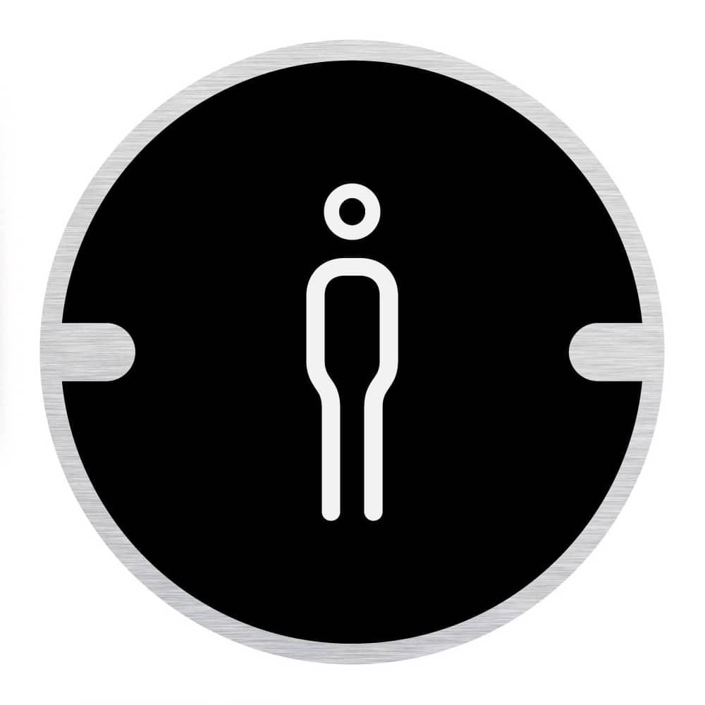 Ironmongery Disc Door Signs - Male