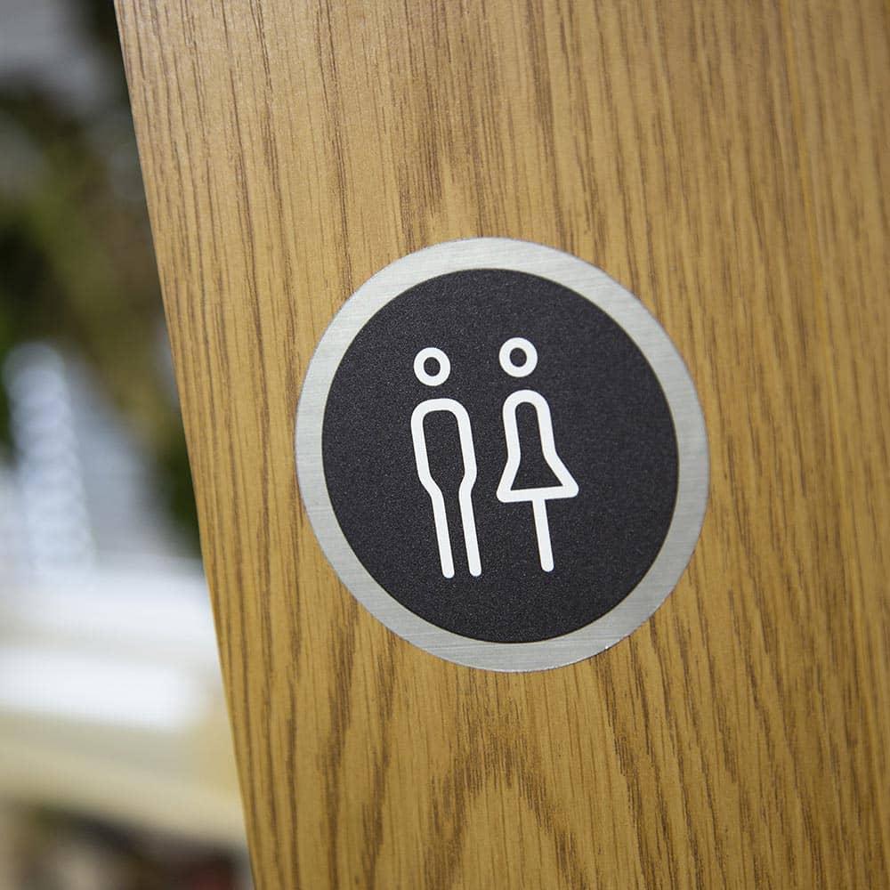 Ironmongery Disc Door Signs - Male & Female