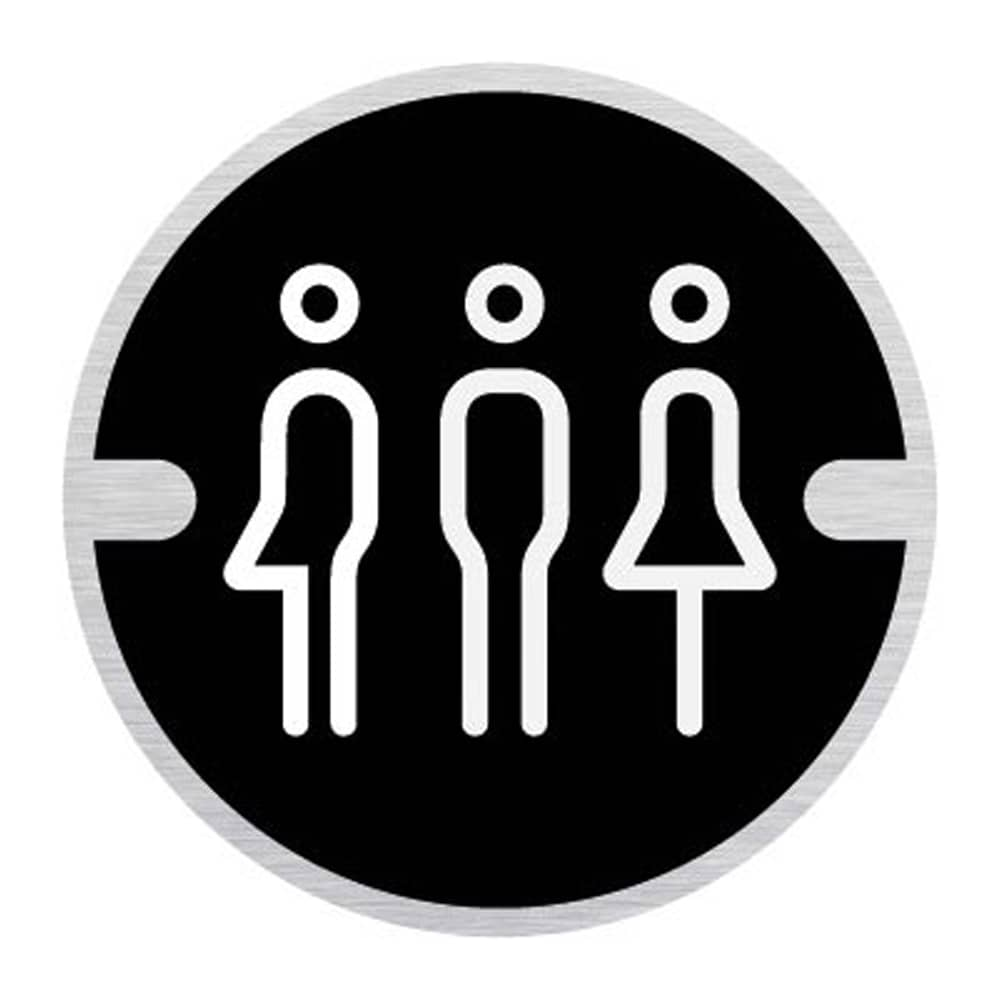 Ironmongery Disc Door Signs - Male, Female, Gender Neutral