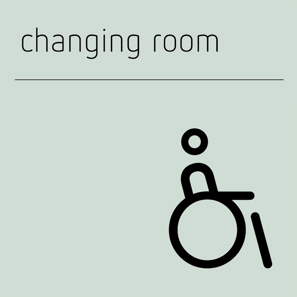 Changing Room Accessible Sign