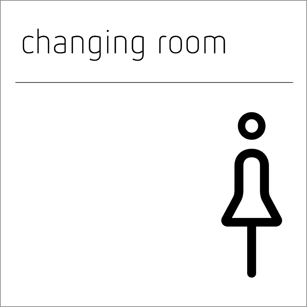Changing Room Sign - Female
