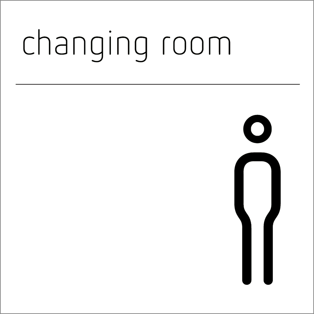 Changing Room Sign - Male