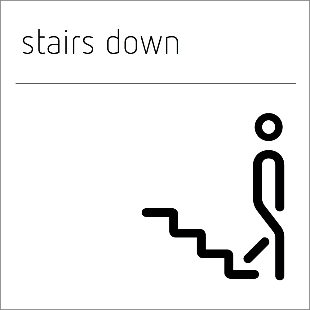 Stairs Down Sign
