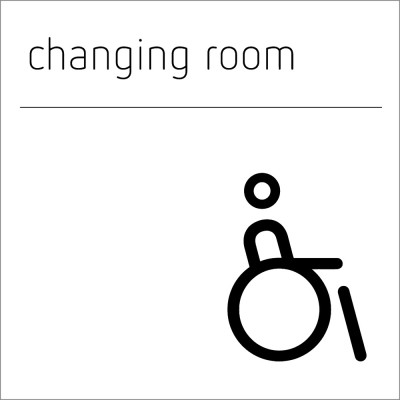 Changing Room Sign - accessible