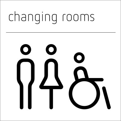 Changing Rooms Sign