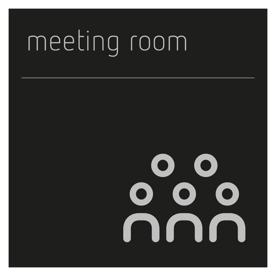 Meeting room symbol sign