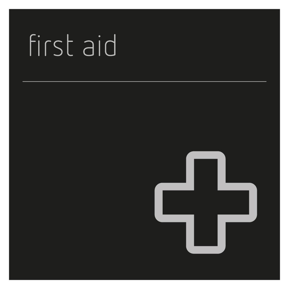 First aid pictigram sign