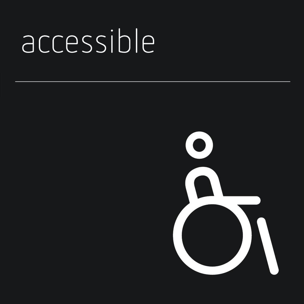 Matt Black Range Icon Signs - Accessible