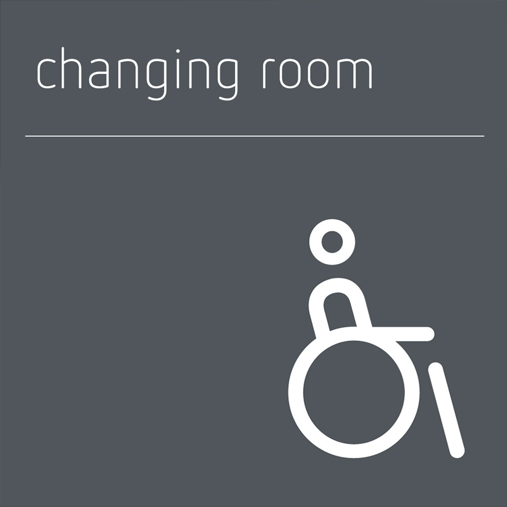 Changing Room Sign Disabled / Accessible