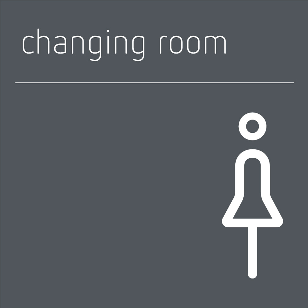 Changing Room Sign Female