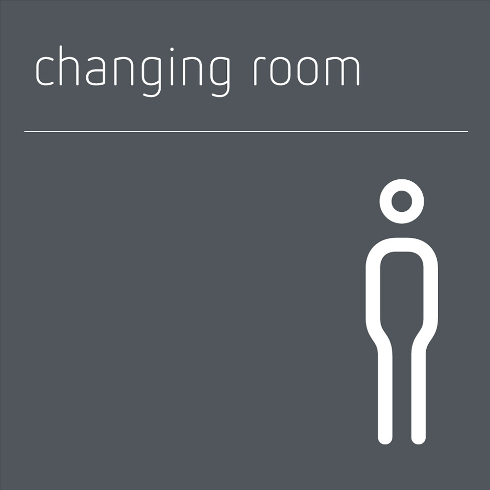 Changing Room Sign Male