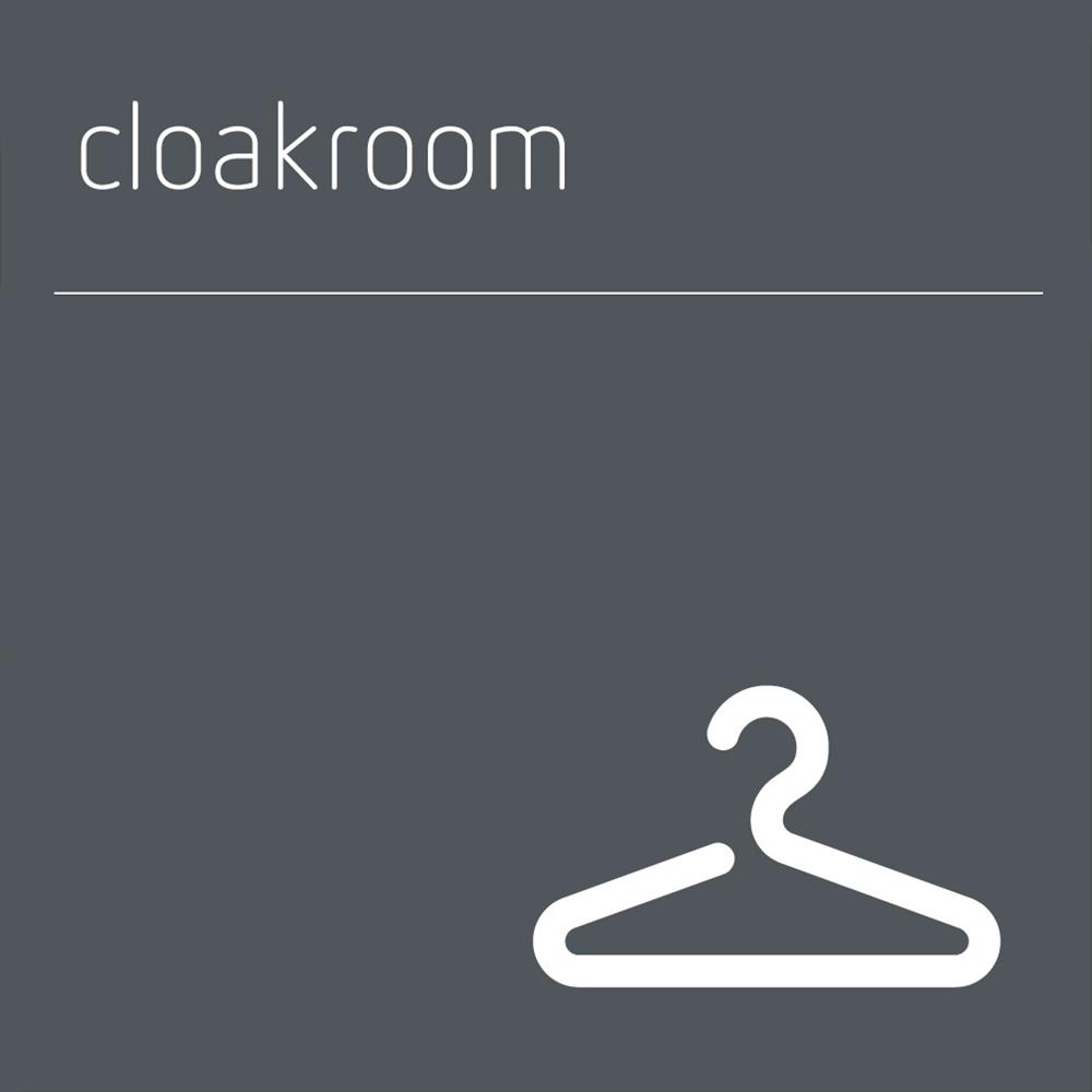 Cloakroom Sign
