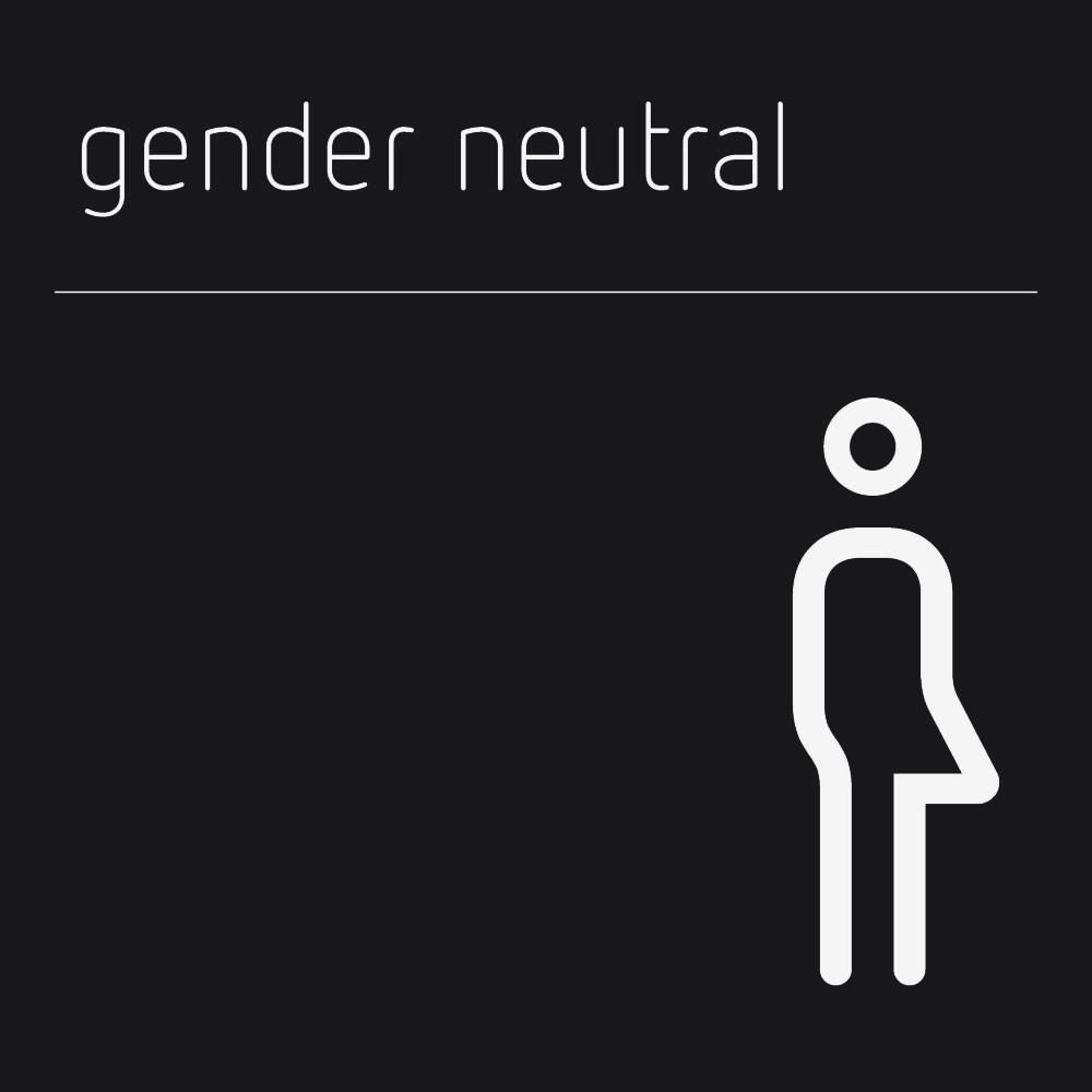 Matt Black Range Icon Signs - Gender Neutral