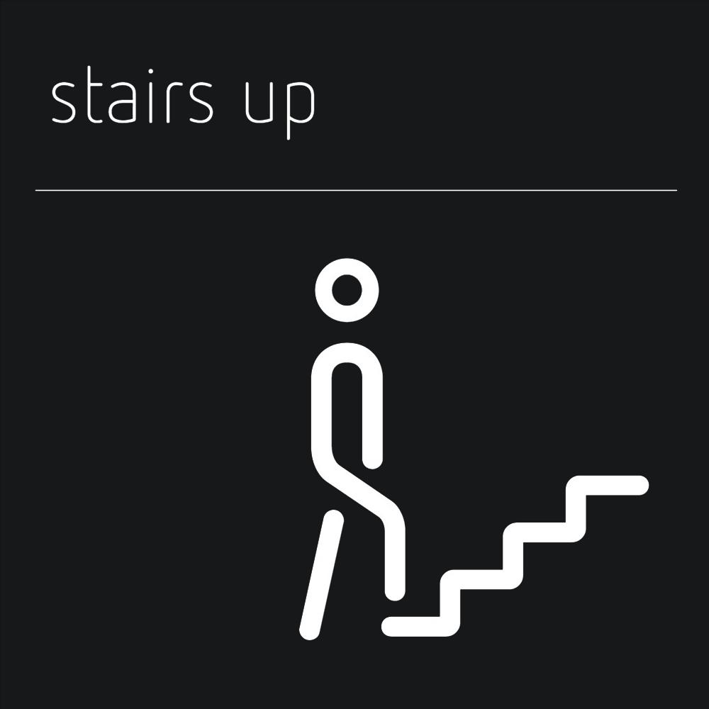 Matt Black Range Icon Signs - Stairs
