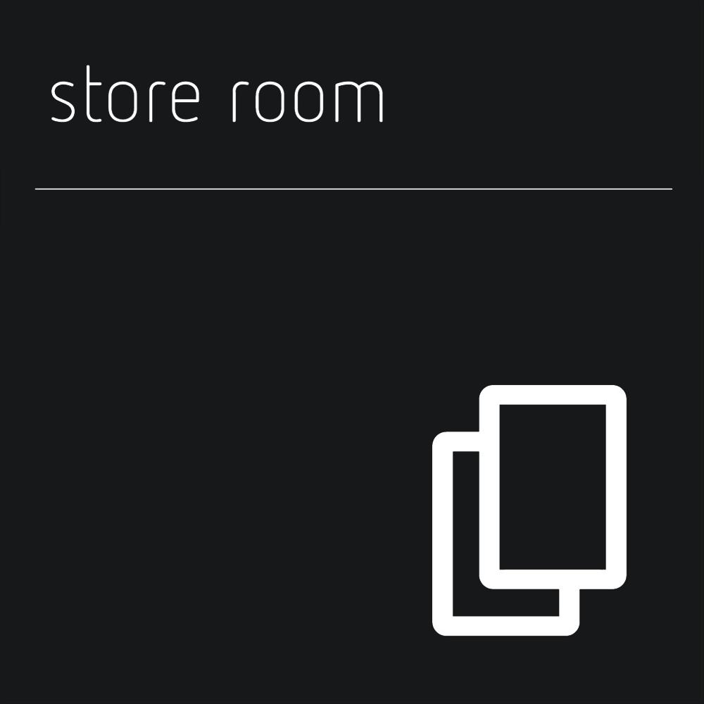 Matt Black Range Icon Signs - Store Room