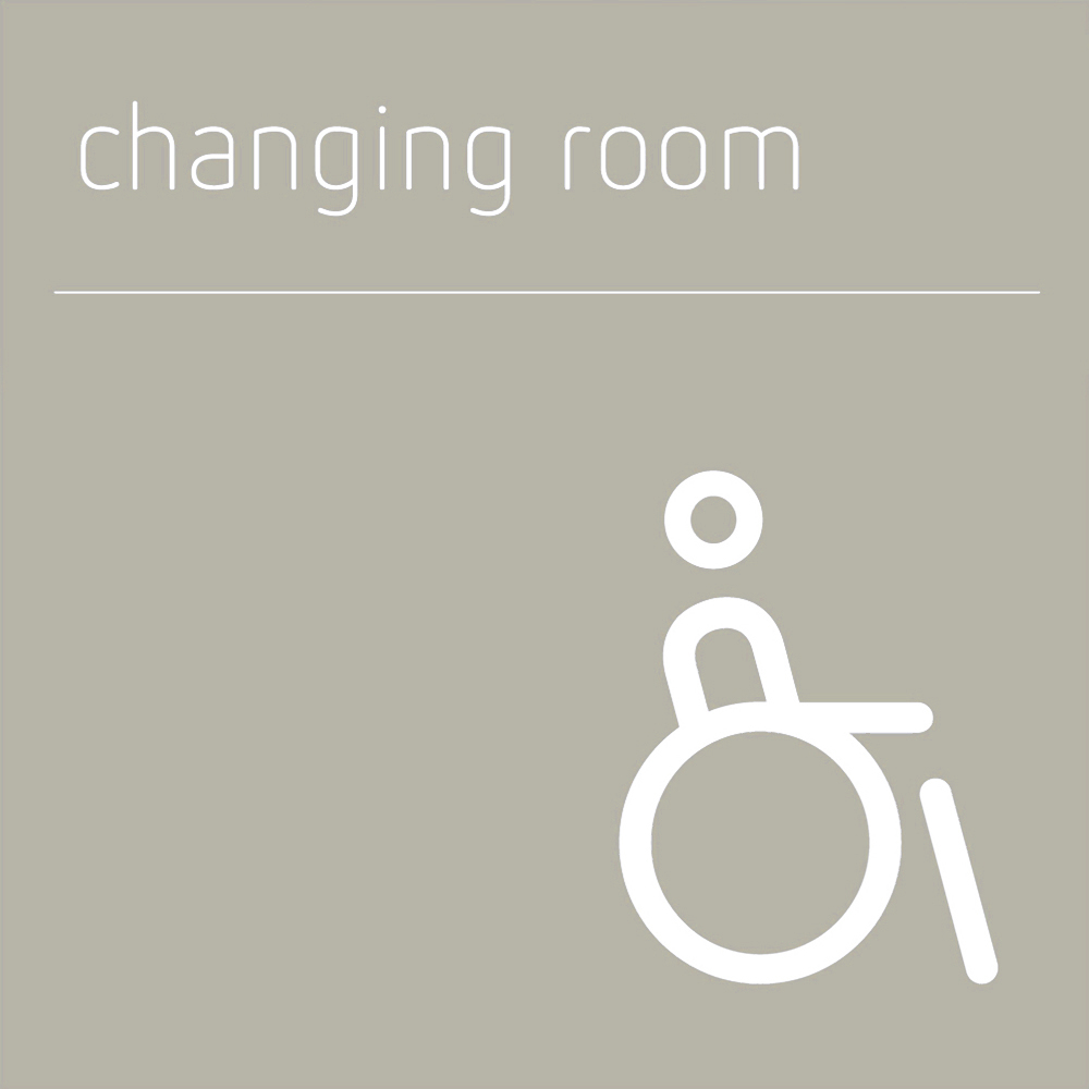 Disabled Changing room sign