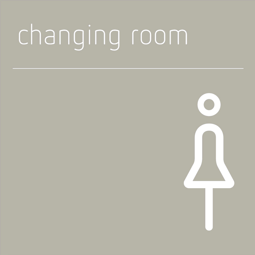 female changing room sign