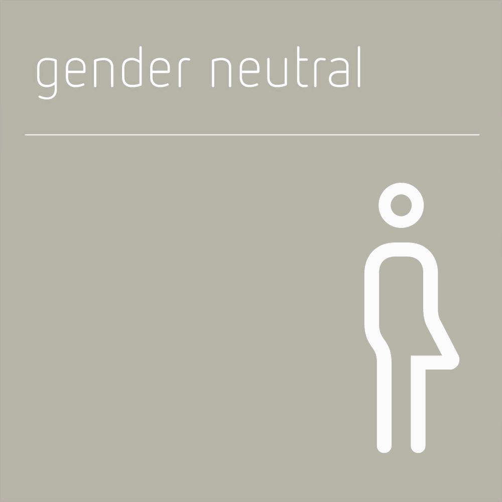 gender neutral sign