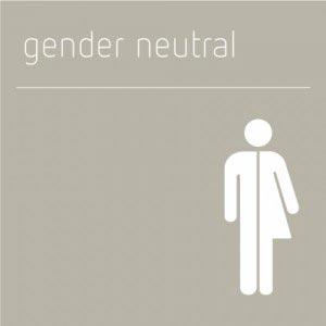 Gender Neutral Toilet Sign, Grey