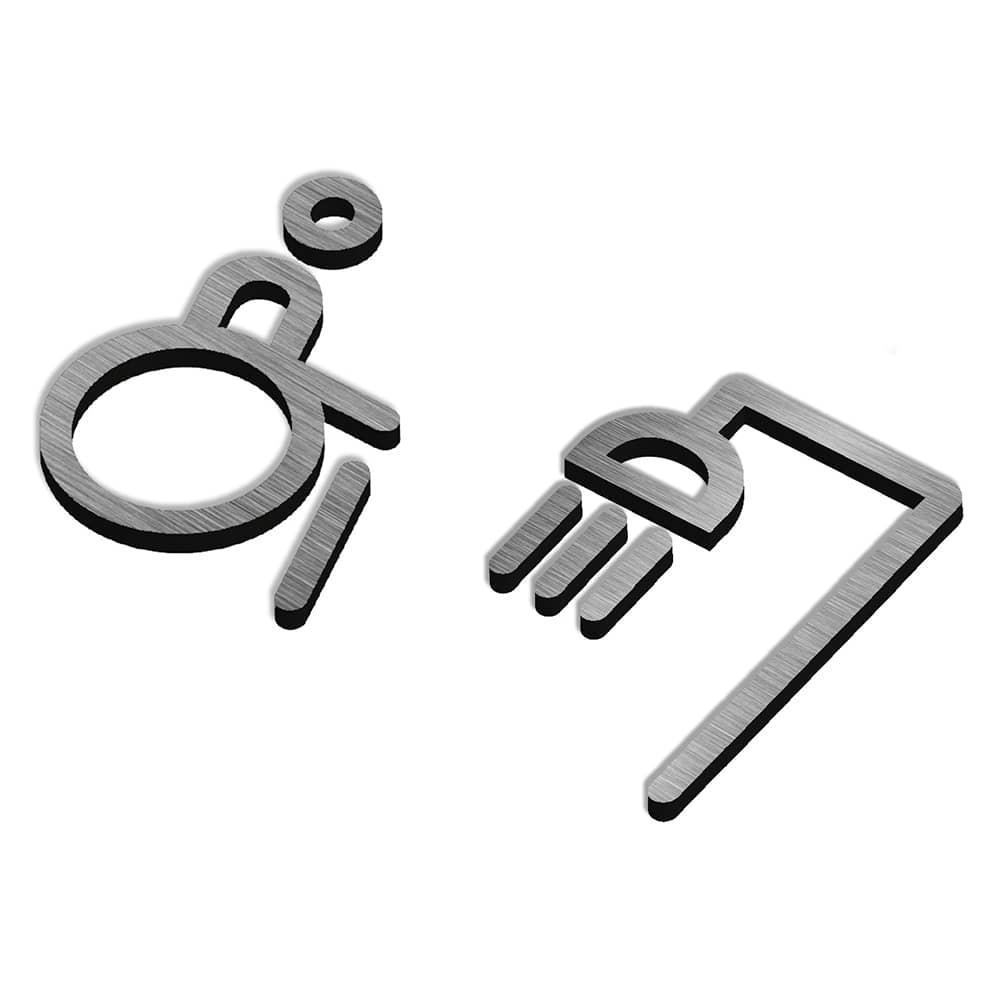 Matt Icon Range - Sign - Disabled Shower