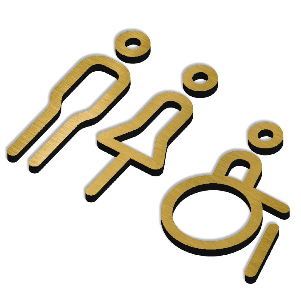Matt Icon Range - Sign - Disabled, Male and Female