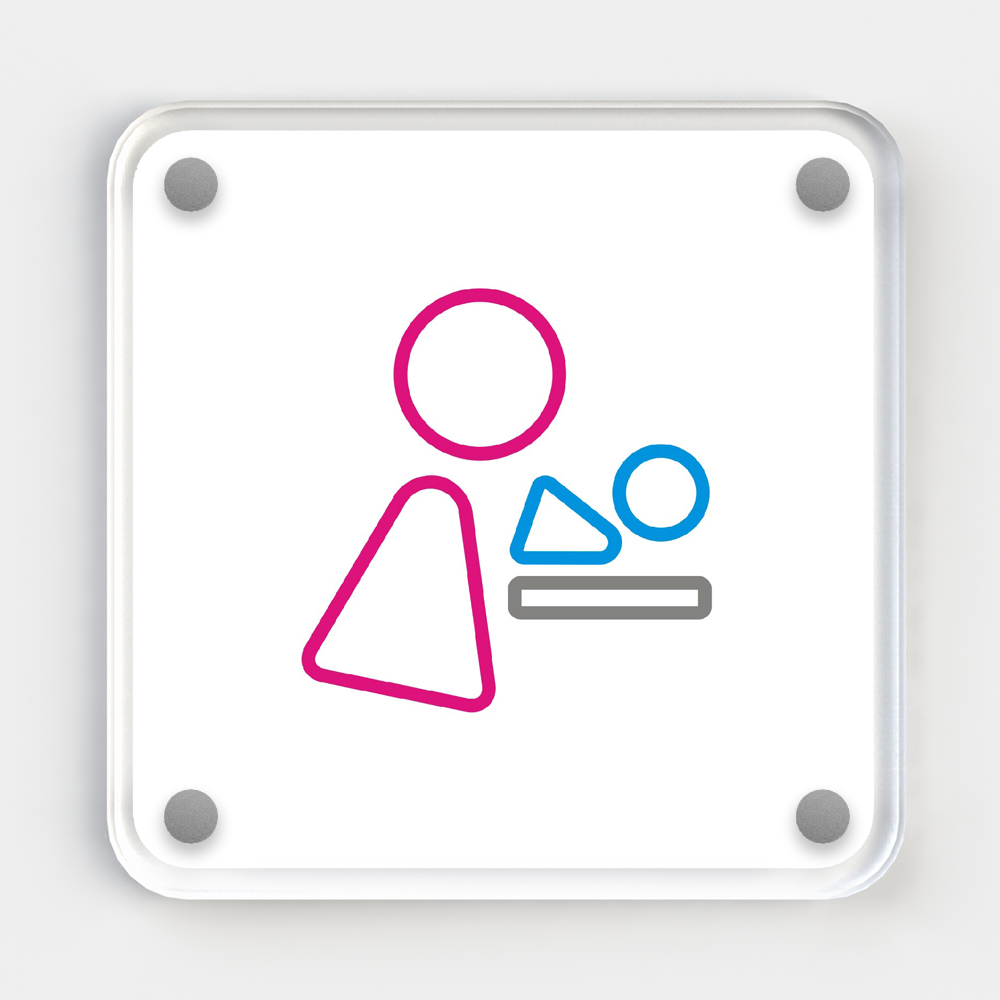 Icon Sign - Baby Changing Coloured