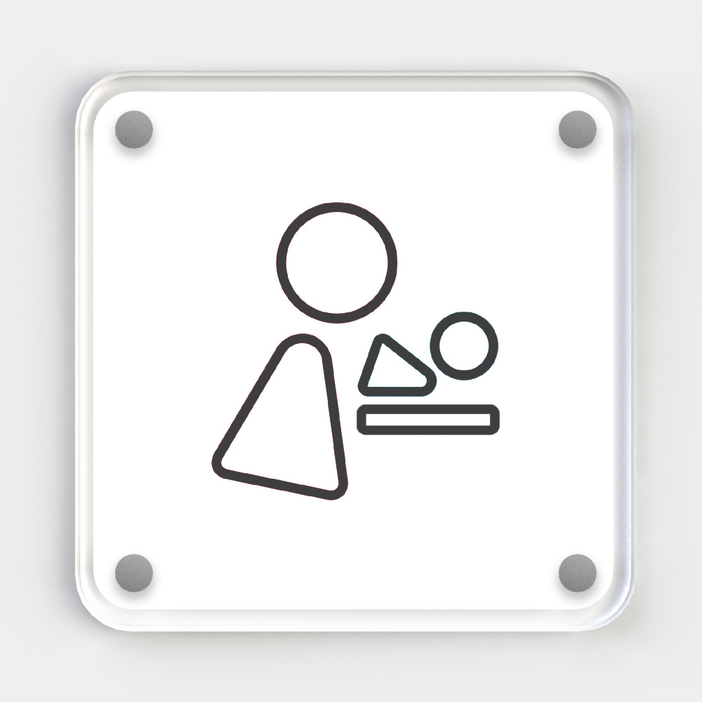 Icon Sign - Baby Changing Grey