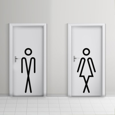 Toilet Door Vinyl Icons