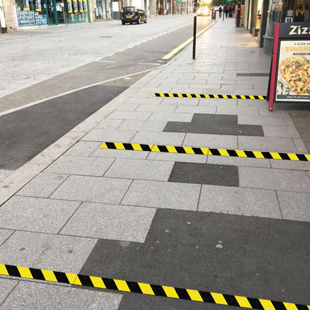 Chevron external tape - hazard tape black and yellow