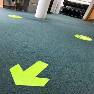 Floor Stickers - Social Distancing signs - Arrows