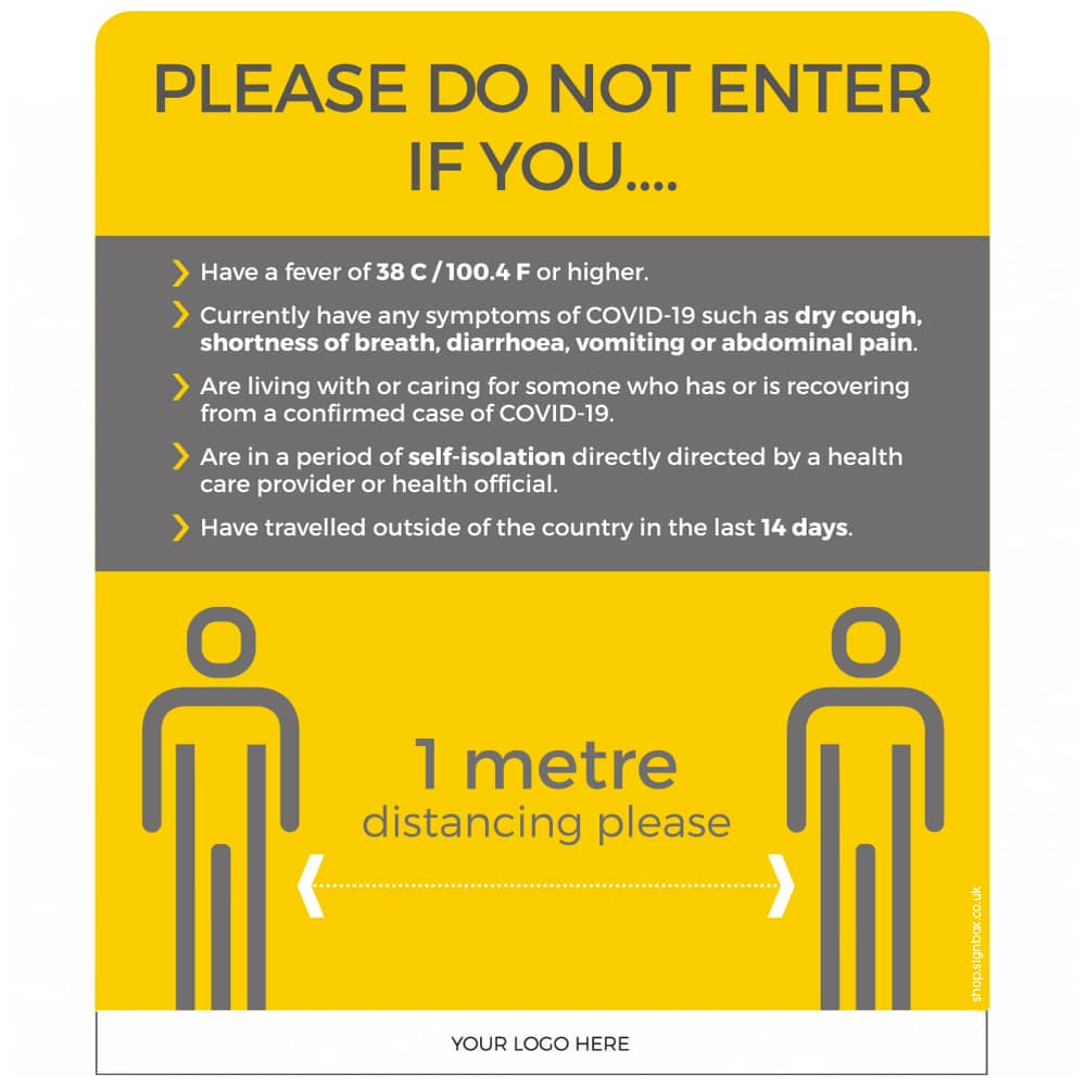 1m - Please Do Not Enter