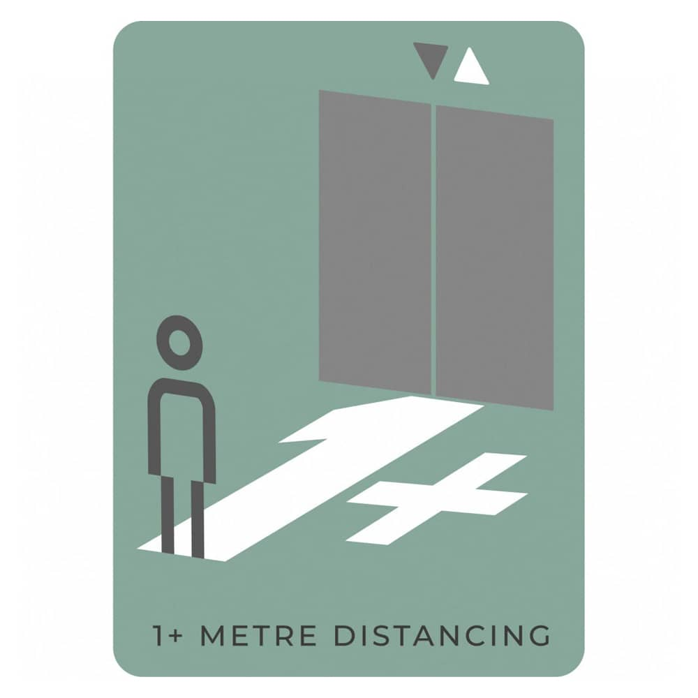 1m Distancing From Lift