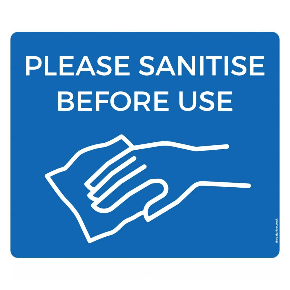 Please Sanitise Before Use