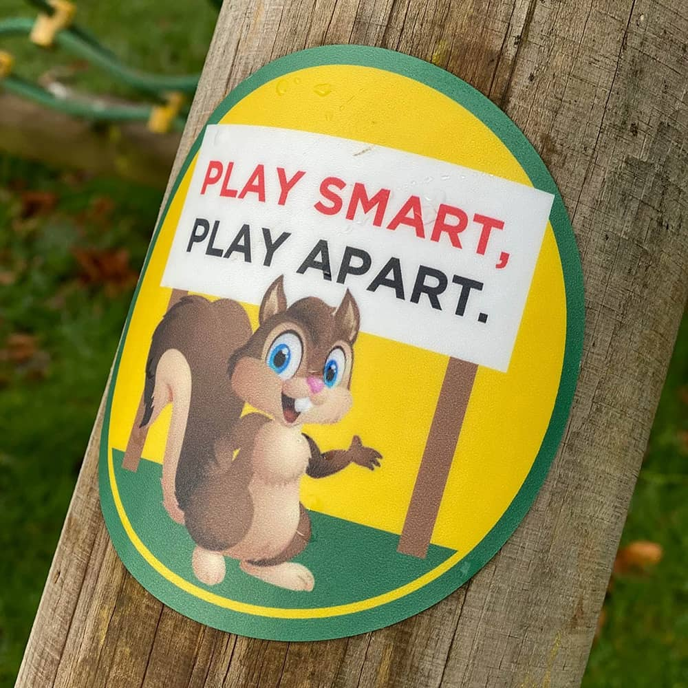 Playground Social Distancing Sticker