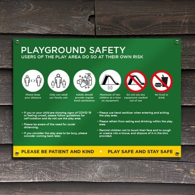 Playground Social Distancing Sign