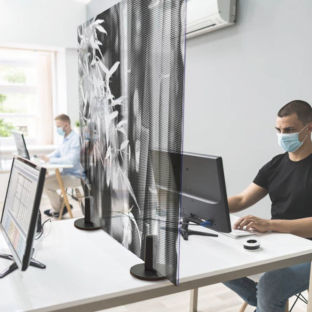 premium Glass Sneeze Screen for Workplaces and Retail