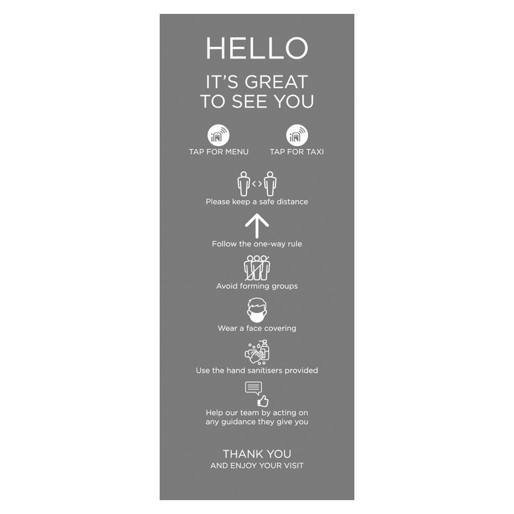 Venue Information Sign - Social Distancing - Grey