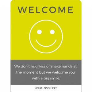 Design 1 - Welcome back social distancing sign acrylic information