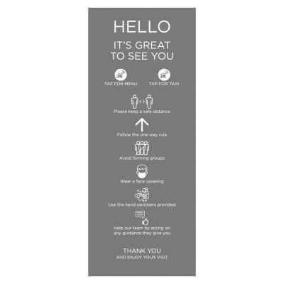 Venue Information Sign - Social Distancing - Grey