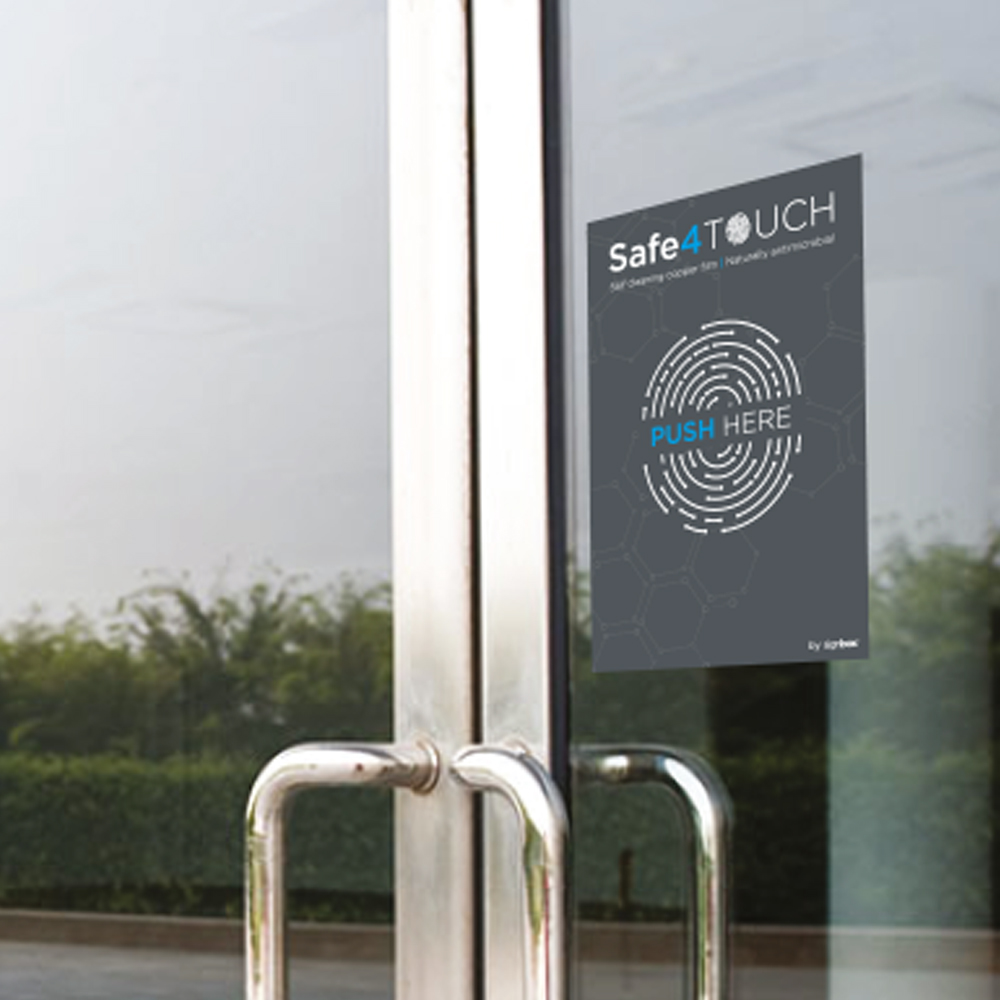 Safe4Touch Antimicrobial Touch Stickers
